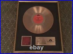 Pat Travers Band Polydor Records Gold Record Award Crash And Burn