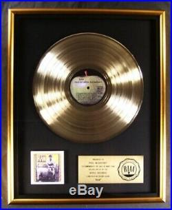 Paul & Linda McCartney Ram LP Gold RIAA Record Award Apple Records