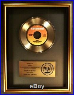 Paul McCartney & Wings Goodnight Tonight 45 Gold RIAA Record Award Columbia