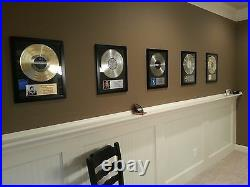 Personalized Gold Broken Record LP Album with Custom Plaque Award Trophy Prize
