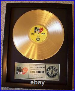 Personalized Gold LP Record Album to Custom Plaque Award Style Trophy