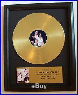 Pesonalized Gold LP Album Record Award+ Custom Plaque CD Display RIAA Disk Disc