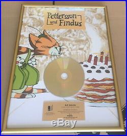 Pettersson und Findus Gold Award goldene Schallplatte 150.000 verkaufte Cds