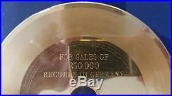 Pink Floyd Gold Single Acetat Award Free Four UNIKAT