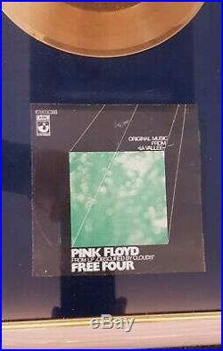 Pink Floyd Gold Single Metal Stamper Award Free Four UNIKAT