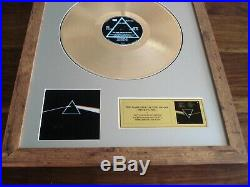 Pink Floyd The Dark Side Of The Moon Lp Gold Disc Record Album Award
