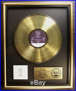 Pink Floyd The Wall LP Gold RIAA Record Award Columbia Records To David Gilmour