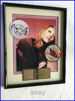 Poe hello Gold RIAA Record Award for 500,000 units of cassette & cds
