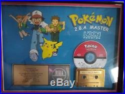 Pokemon 2. B. A. Master Riaa Custom Gold CD Record Award