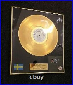 Polygram swedish gold record award charles hart phantombod the opera