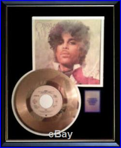 Prince 1999 Gold Metalized Record Rare 45 Pm & Sleeve Non Riaa Award