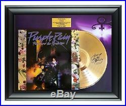 Prince Autographed Purple Rain Album LP Gold Record Award