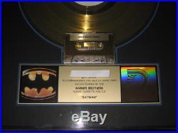 Prince BATMAN RIAA gold record award Batman LP DC COMICS Warner Brothers