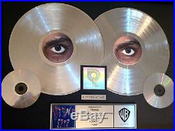 Prince Certified Riaa Double Platinum Gold Lp Record Award Gold Disc 1999