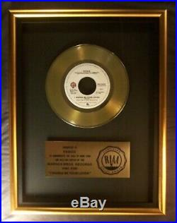 Prince I Wanna Be Your Lover 45 Gold RIAA Record Award Warner Bros
