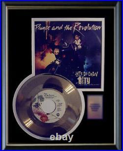 Prince Let's Go Crazy Gold Metalized Record Rare 45 Pm & Sleeve Non Riaa Award
