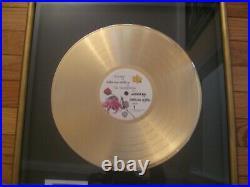 Prince RIAA Gold Record Award Purple Rain LP Warner Brothers Record