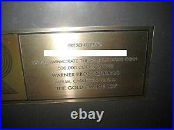 Prince RIAA The Gold Experience GOLD Record Award Album CD LP