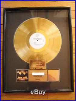 Prince RIAA gold record award Batman LP