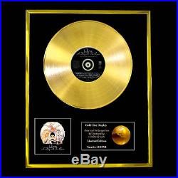 Queen A Day At The Races CD Gold Disc Award Display Vinyl Lp Record Free P+p
