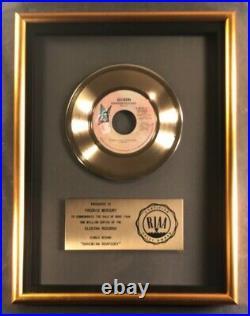 Queen Bohemian Rhapsody 45 Gold RIAA Record Award Elektra Records To Freddie