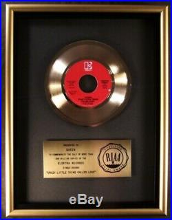 Queen Crazy Little Thing Called Love 45 Gold RIAA Record Award Elektra Records