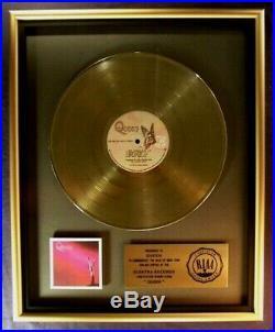 Queen Debut LP Gold RIAA Record Award Elektra Records To Queen