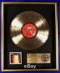 Queen Live Killers LP Gold RIAA Record Award Elektra Records To Freddie Mercury