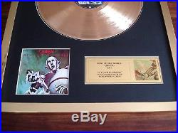 Queen News Of The World 24ct Gold Plated Disc Record Award Album