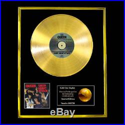 Queen Sheer Heart Attack CD Gold Disc Record Award Display Lp Free P+p