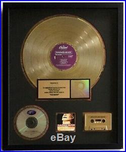 RADIOHEAD The Bends RIAA GOLD RECORD AWARD Completely Original NEAR MINT