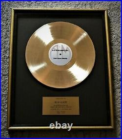 RARE! A&M RECORDS Gold LP Album Record Music Employee Award + Plaque Herb Alpert