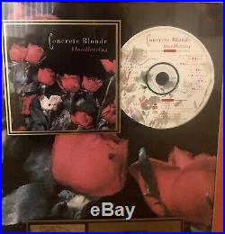 RARE! Concrete Blonde RIAA Certified Gold Record Award For Bloodletting