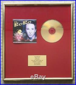RARE DJ Bobo World in Motion gold record award Slovenia no RIAA BPI