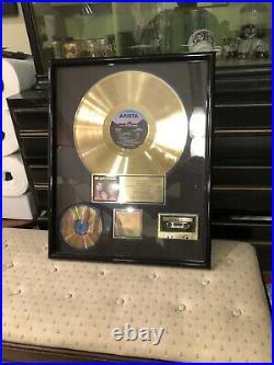 RARE EXPOSE RIAA Gold Record Album Award Framed Arista Records