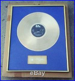 RARE Nirvana Nevermind German Gold Record Award Presented 2 Geffen International