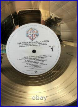 RARE Paul Simon RIAA Gold Record Award One Trick Pony WB Album Framed