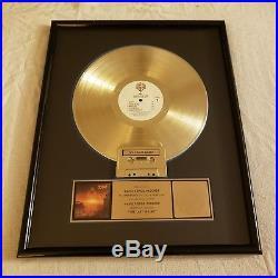 RIAA Award DIO- The Last In Line with 12 Gold Record & Cassette RIAA Award