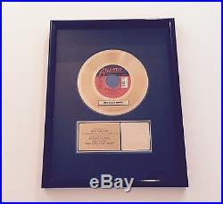 RIAA Bette Midler Gold Sales Award 45 Atlantic Records Wind Beneath My Wings