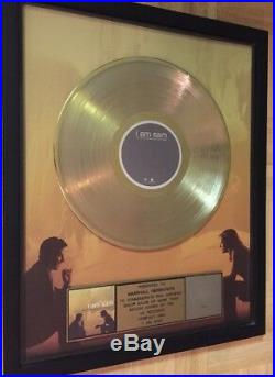 RIAA Certified Gold Record Award I Am Sam Original Soundtrack Framed The Beatles