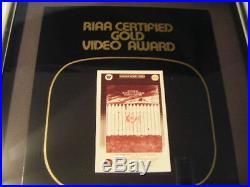 RIAA Certified Gold Video Sales Award Stephen King Movie Cujo To Record Company