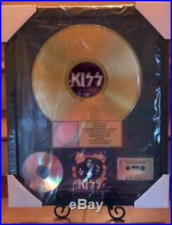 RIAA GOLD RECORD AWARD for KISS YOU WANTED THE BEST PRESENTED TO ERIC CARR