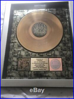 RIAA Gold Record Award. Nineteen Naughty Nine Presented To C-MURDAH AKA Mc