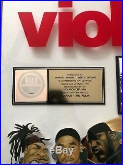 RIAA Gold Record Award Violator The Album Rare VTG Big Pun Busta Fat Joe Q-Tip