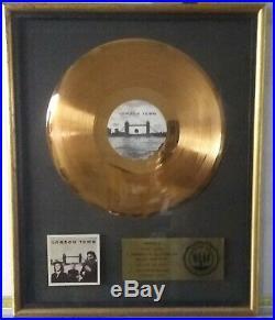 RIAA PAUL McCARTNEY & WINGS LONDON TOWN GOLD RECORD AWARD TO DENNY