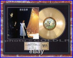RUSH EXIT STAGE LEFT GOLD LP RECORD AWARD platinum riaa format cd disc rare