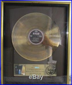 RUSH EXIT STAGE LEFT authentic original R. I. A. A. Gold Record Award geddy lee