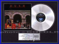 RUSH MOVING PICTURES PLATINUM LP RECORD AWARD gold riaa format cd disc rare