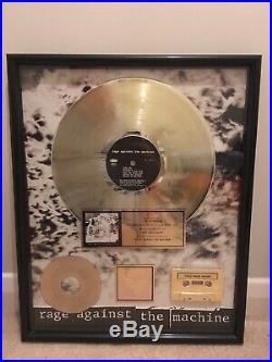 Rage Against The Machine Self Titled Album RIAA Gold Record Award Disc