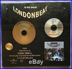 Rare LONDONBEAT gold record award In The Blood Holland NVPI NO BPI RIAA